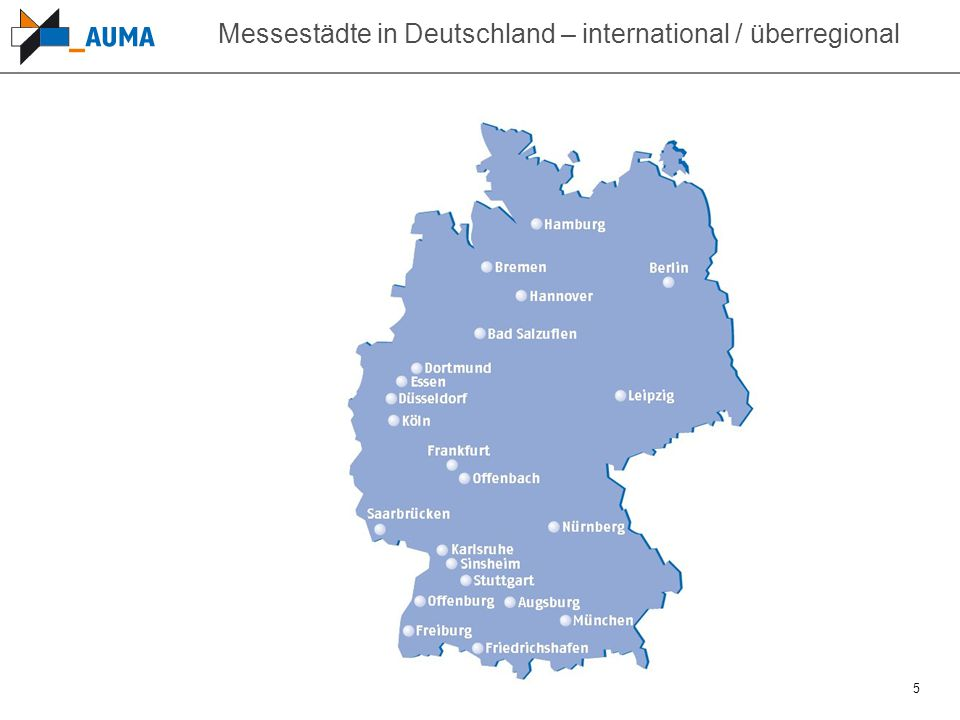 Messestädte in Deutschland – international / überregional
