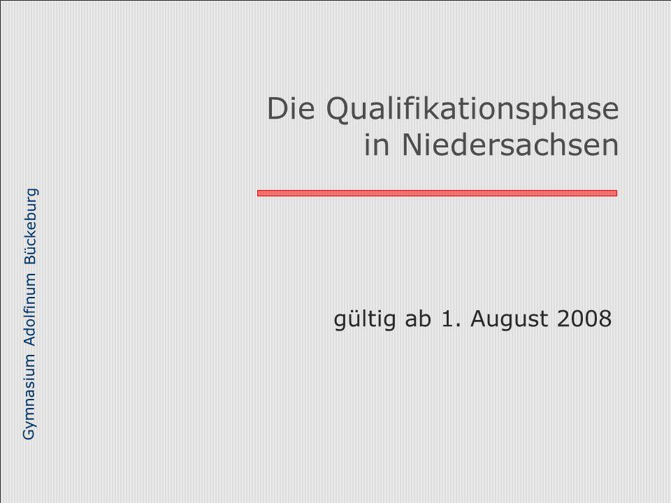 Die Qualifikationsphase in Niedersachsen