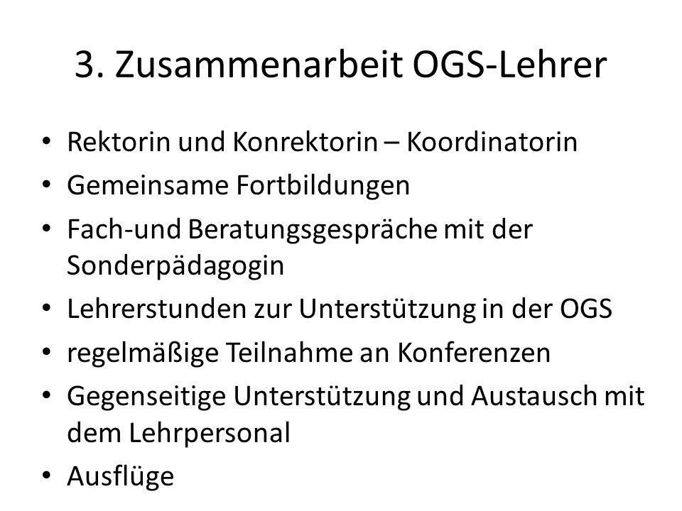3. Zusammenarbeit OGS-Lehrer