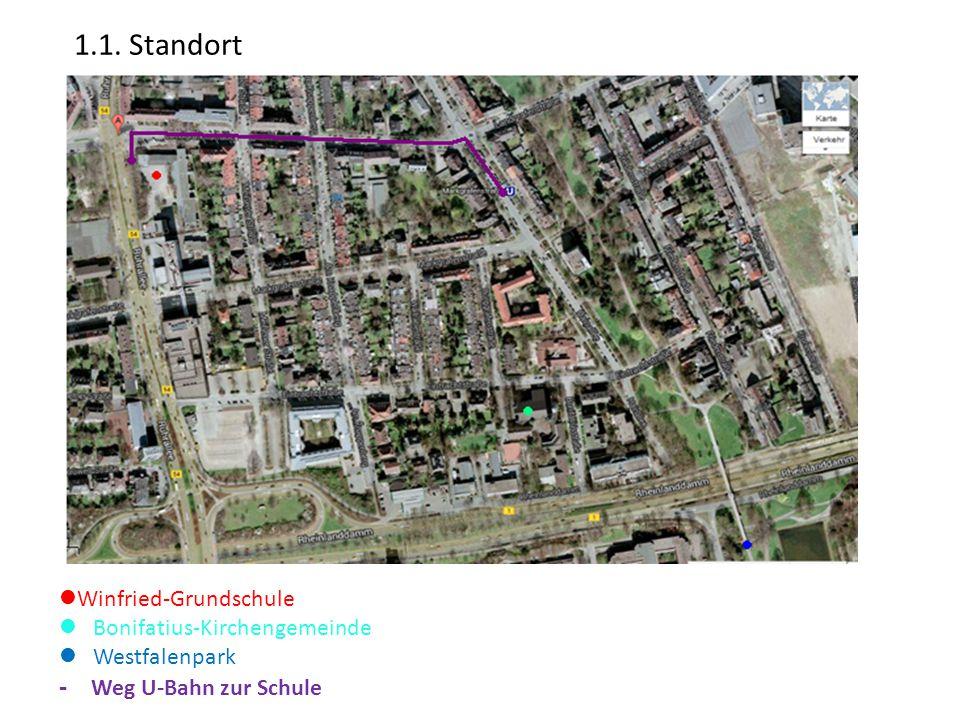 1.1. Standort - Weg U-Bahn zur Schule Winfried-Grundschule