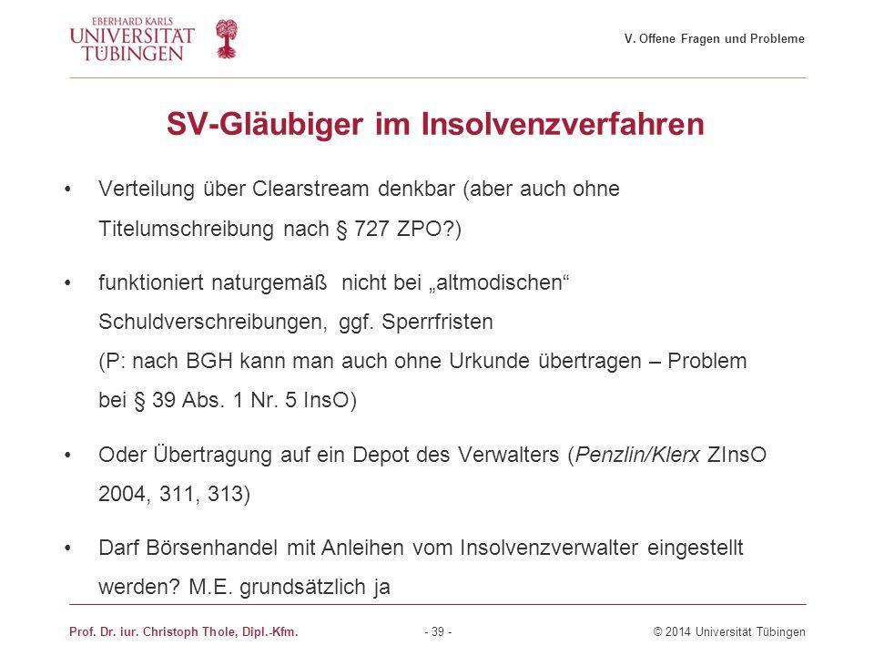 SV-Gläubiger im Insolvenzverfahren