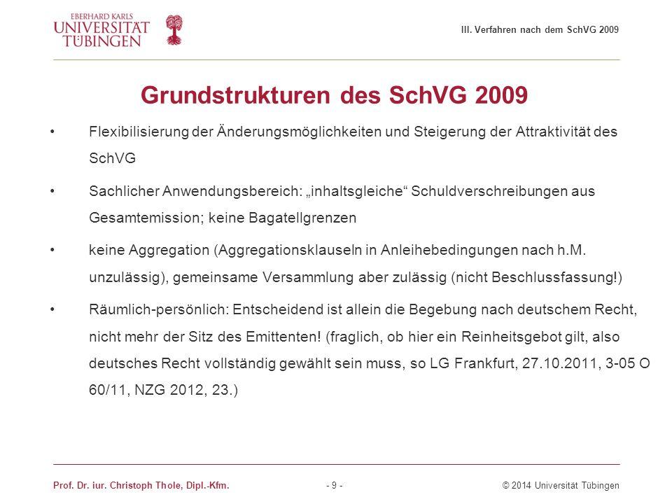 Grundstrukturen des SchVG 2009