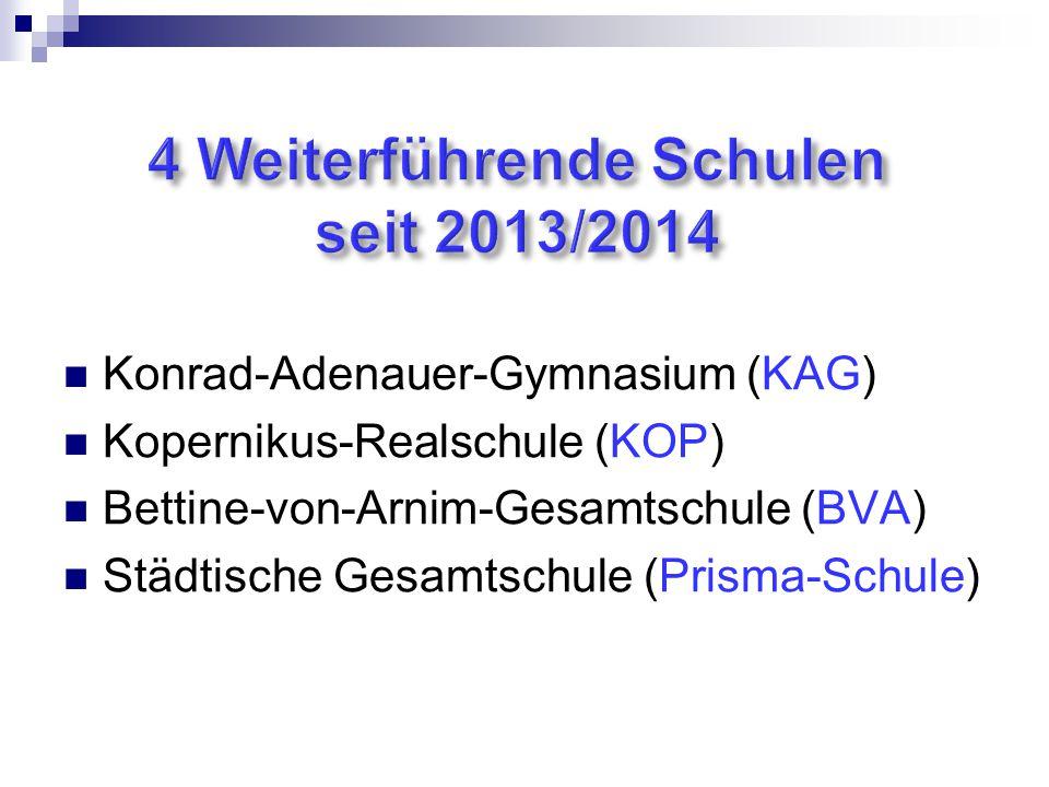 4 Weiterführende Schulen seit 2013/2014