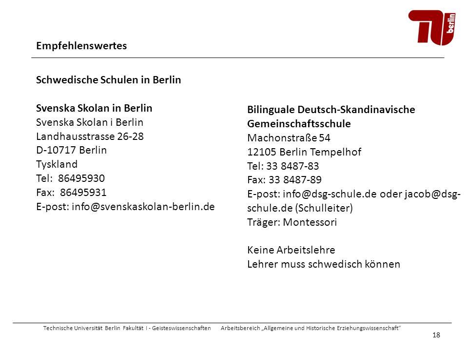 Schwedische Schulen in Berlin Svenska Skolan in Berlin