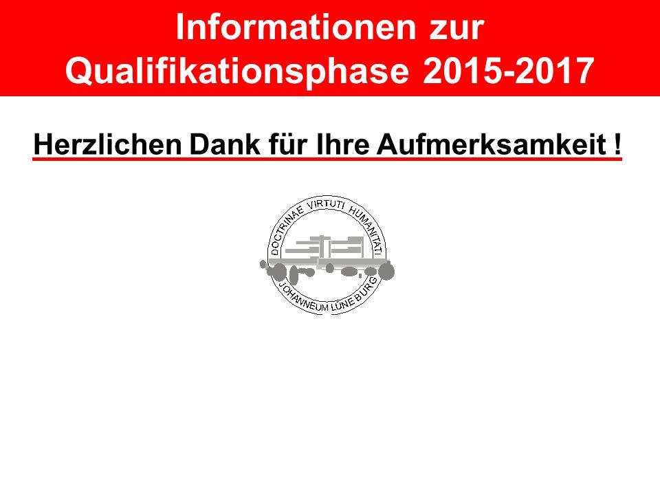 Informationen zur Qualifikationsphase 2015-2017