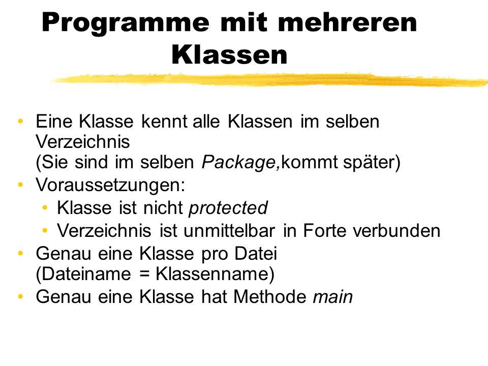 Programme mit mehreren Klassen