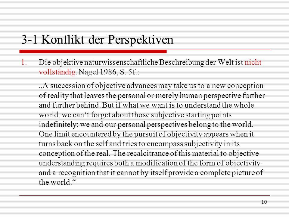 3-1 Konflikt der Perspektiven