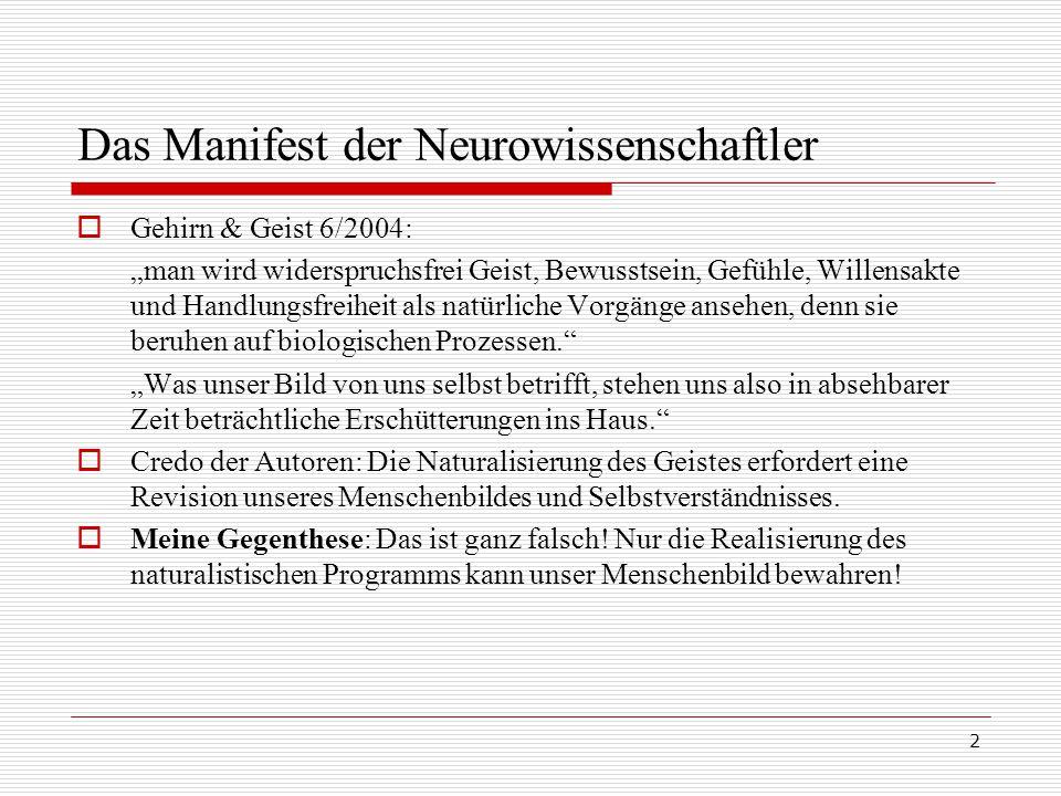 Das Manifest der Neurowissenschaftler