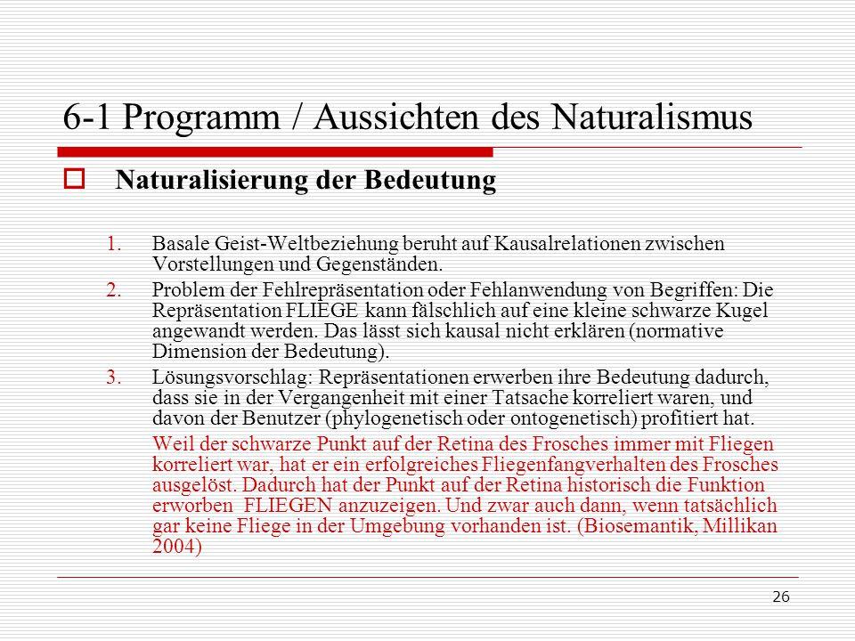 6-1 Programm / Aussichten des Naturalismus