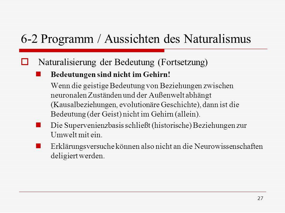 6-2 Programm / Aussichten des Naturalismus