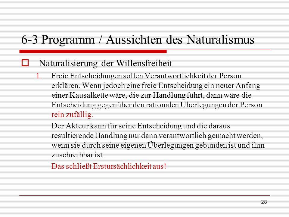 6-3 Programm / Aussichten des Naturalismus