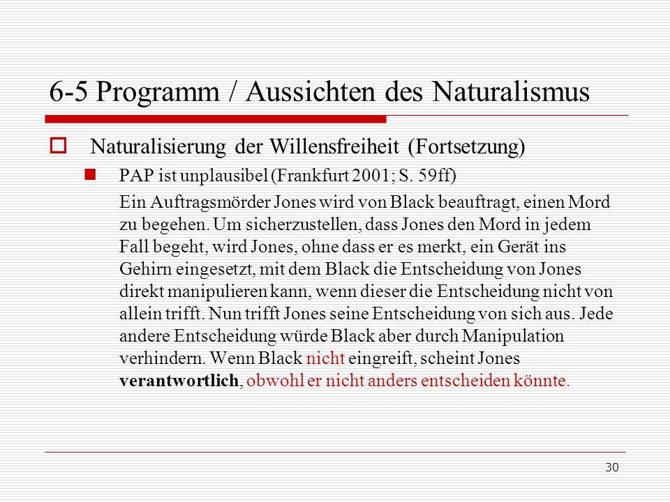 6-5 Programm / Aussichten des Naturalismus