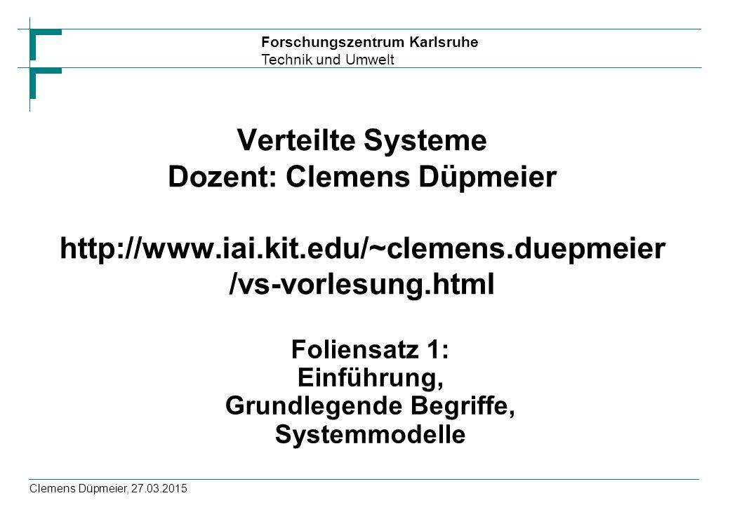 Foliensatz 1: Einführung, Grundlegende Begriffe, Systemmodelle