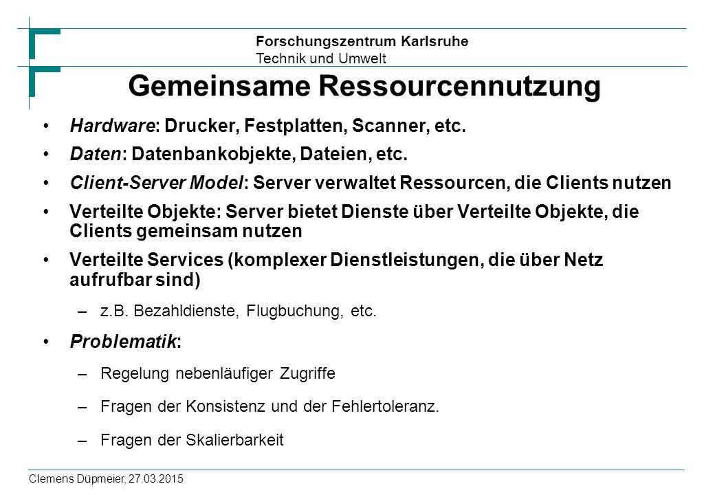 Gemeinsame Ressourcennutzung