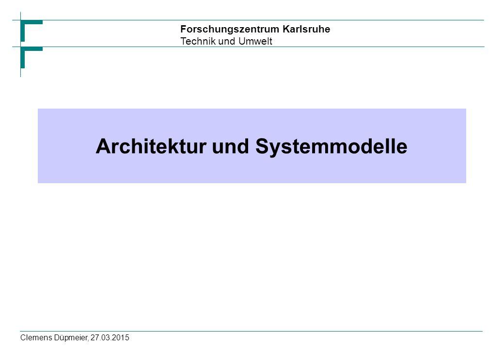 Architektur und Systemmodelle