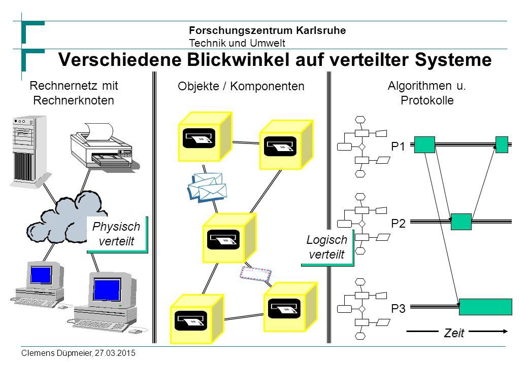 Verschiedene Blickwinkel auf verteilter Systeme