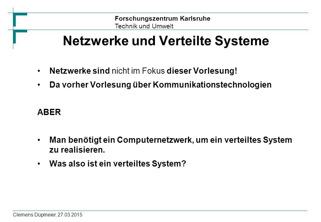 Netzwerke und Verteilte Systeme