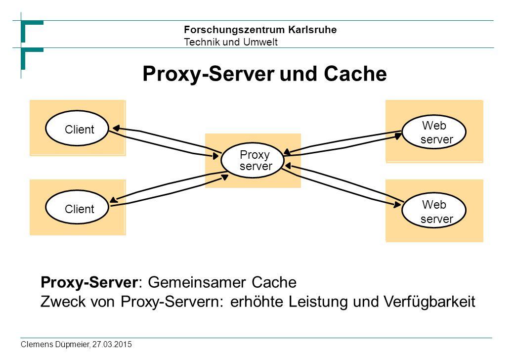 Proxy-Server und Cache