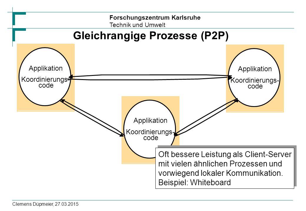 Gleichrangige Prozesse (P2P)