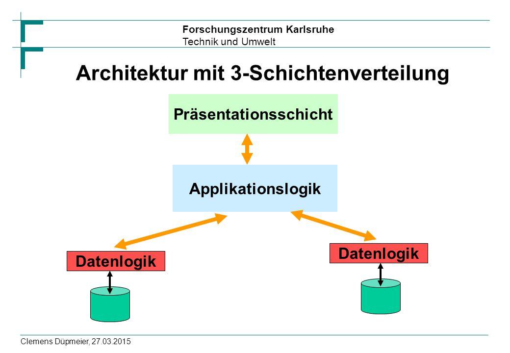 Architektur mit 3-Schichtenverteilung