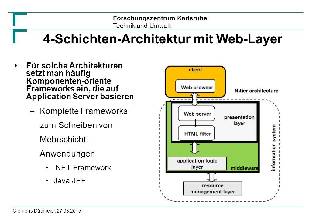4-Schichten-Architektur mit Web-Layer