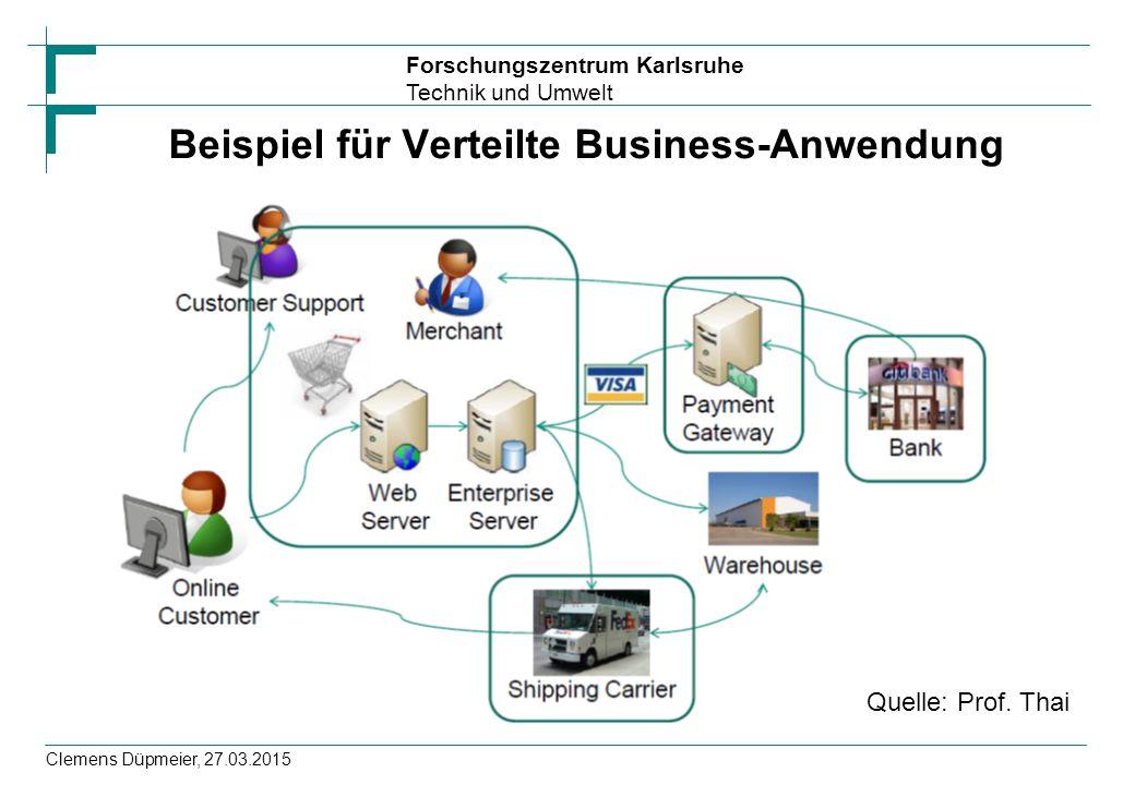 Beispiel für Verteilte Business-Anwendung