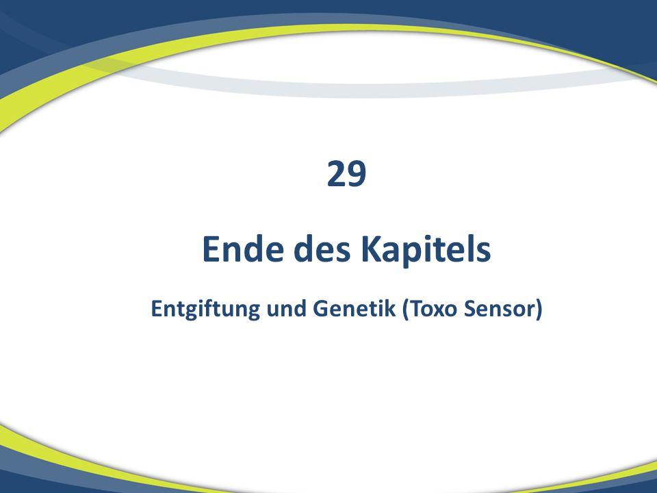 Entgiftung und Genetik (Toxo Sensor)