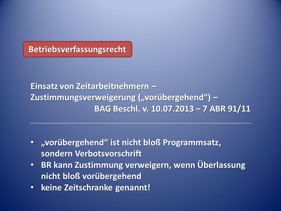 Betriebsverfassungsrecht