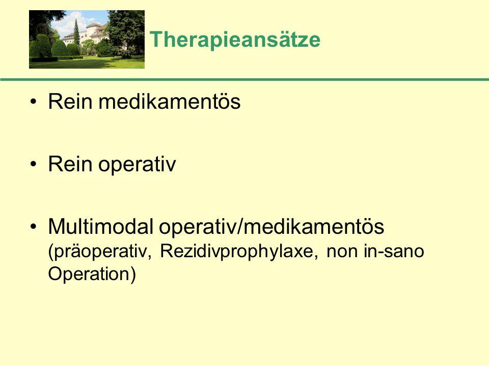 Therapieansätze Rein medikamentös. Rein operativ.