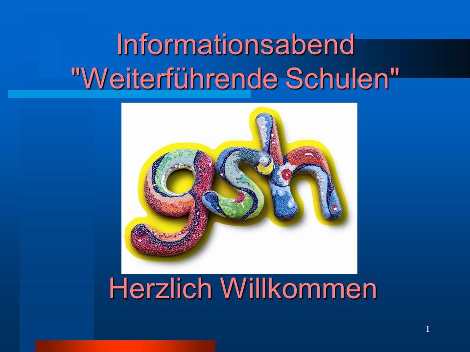 Informationsabend Weiterführende Schulen