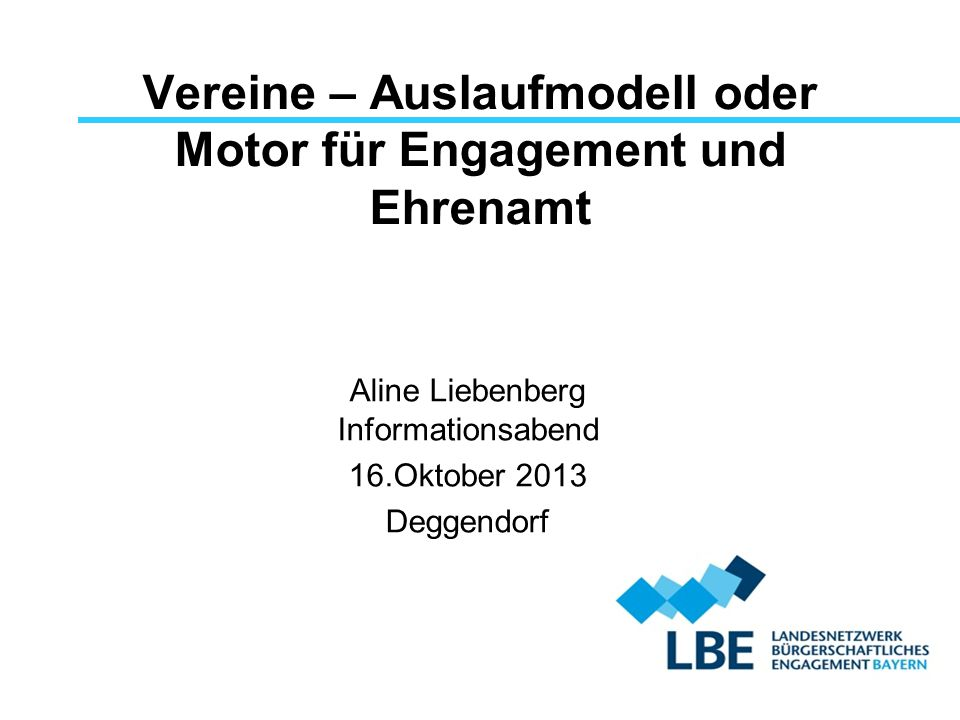 Vereine – Auslaufmodell oder Motor für Engagement und Ehrenamt