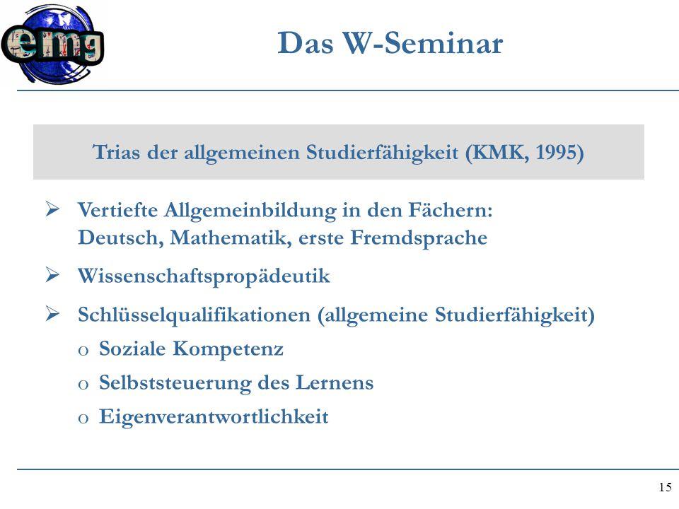 Trias der allgemeinen Studierfähigkeit (KMK, 1995)