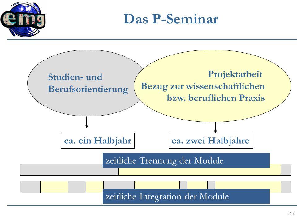 Das P-Seminar Studien- und Berufsorientierung Projektarbeit