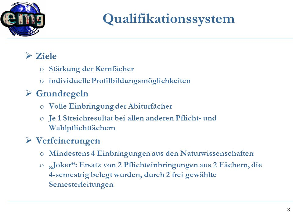 Qualifikationssystem