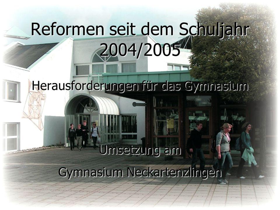 Reformen seit dem Schuljahr 2004/2005