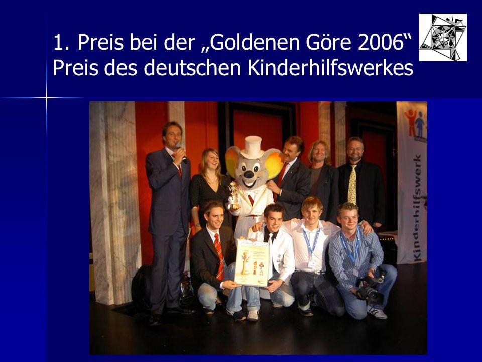 """1. Preis bei der """"Goldenen Göre 2006"""
