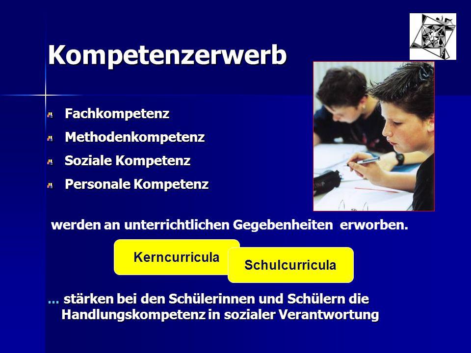 Kompetenzerwerb Fachkompetenz Methodenkompetenz Soziale Kompetenz