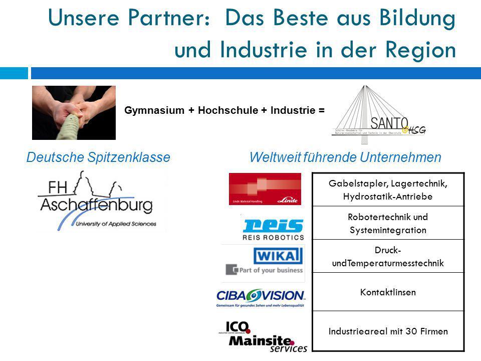 Unsere Partner: Das Beste aus Bildung und Industrie in der Region