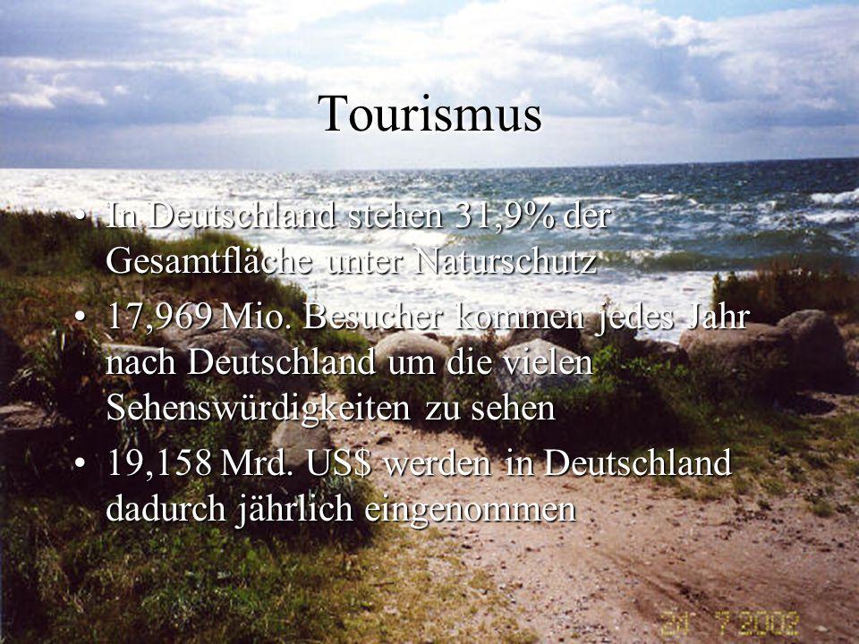 Tourismus In Deutschland stehen 31,9% der Gesamtfläche unter Naturschutz.
