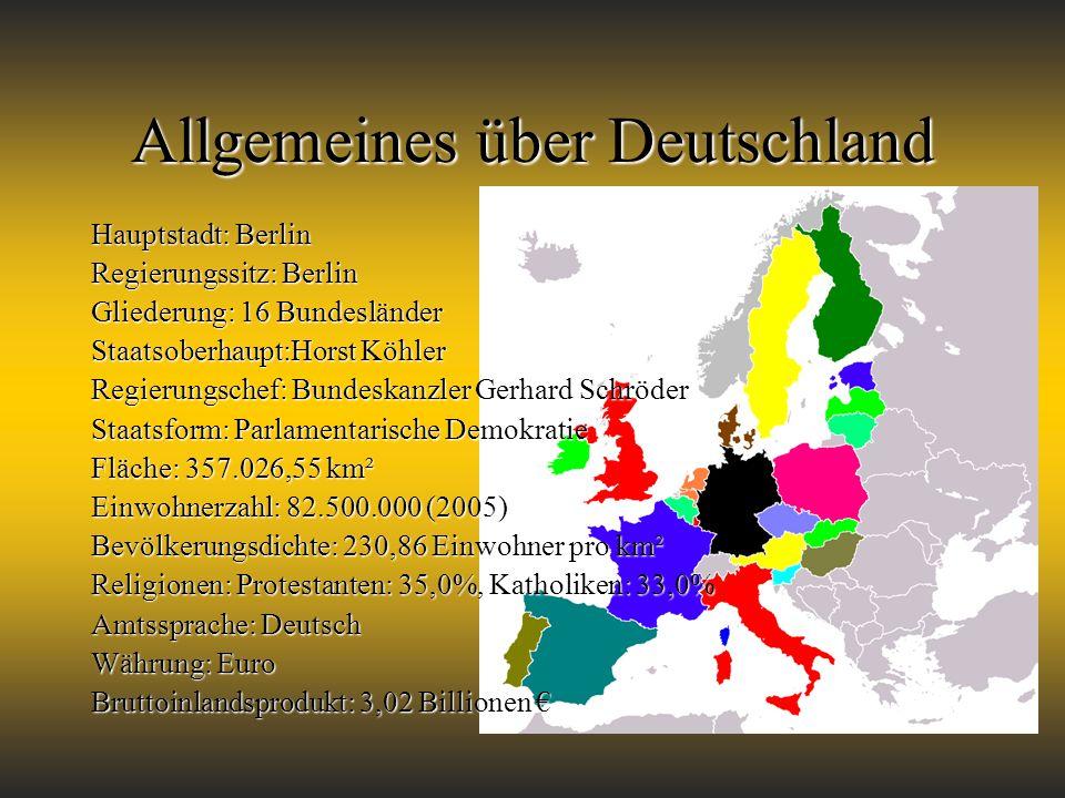 Allgemeines über Deutschland