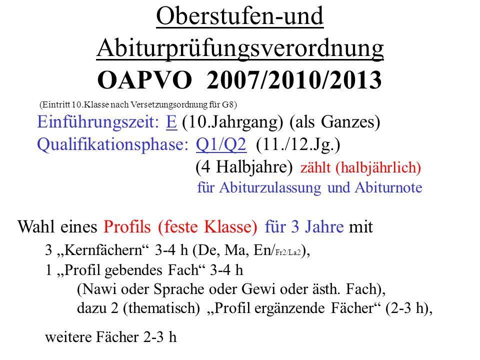 Oberstufen-und Abiturprüfungsverordnung