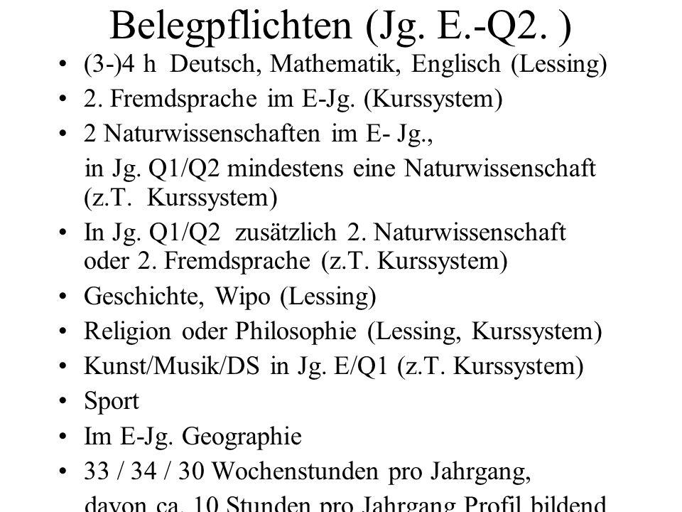 Belegpflichten (Jg. E.-Q2. )