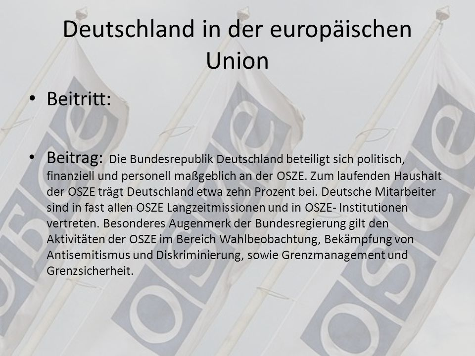 Deutschland in der europäischen Union