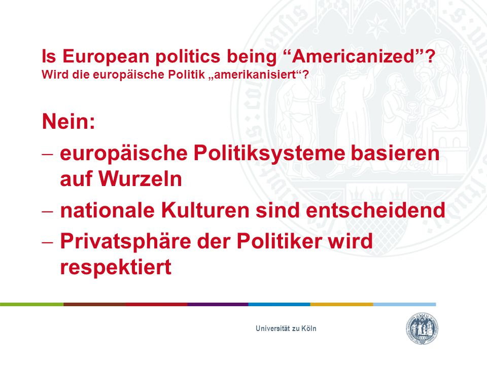 europäische Politiksysteme basieren auf Wurzeln