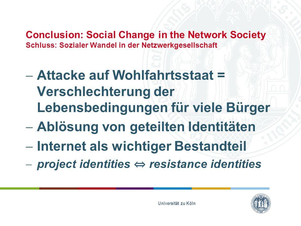 Ablösung von geteilten Identitäten Internet als wichtiger Bestandteil