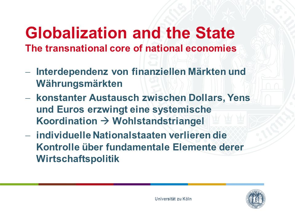 Globalization and the State The transnational core of national economies