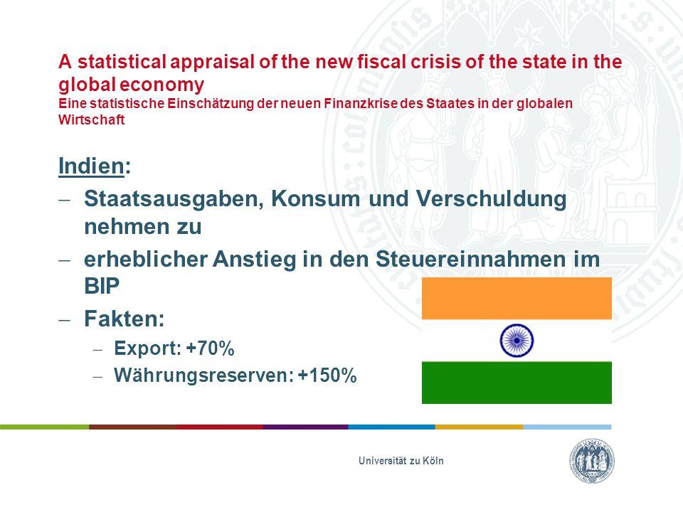 Staatsausgaben, Konsum und Verschuldung nehmen zu