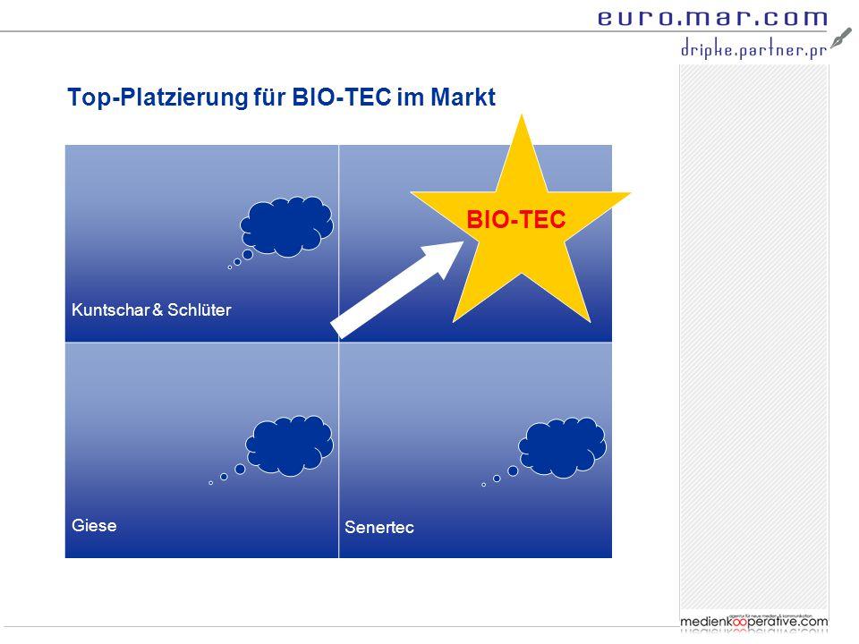 Top-Platzierung für BIO-TEC im Markt