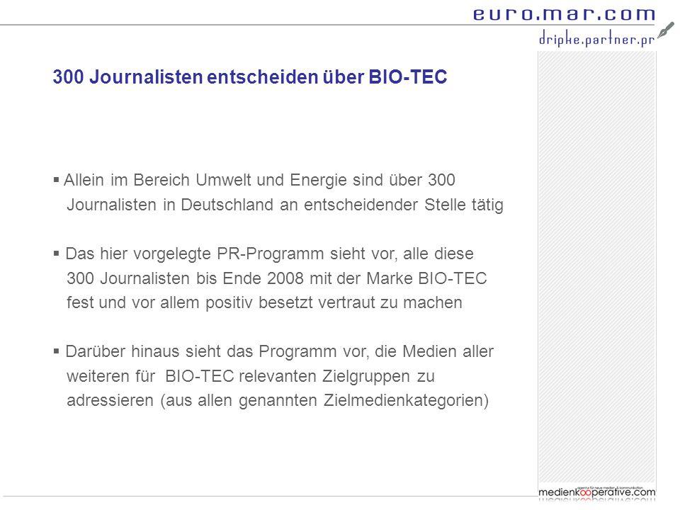 300 Journalisten entscheiden über BIO-TEC