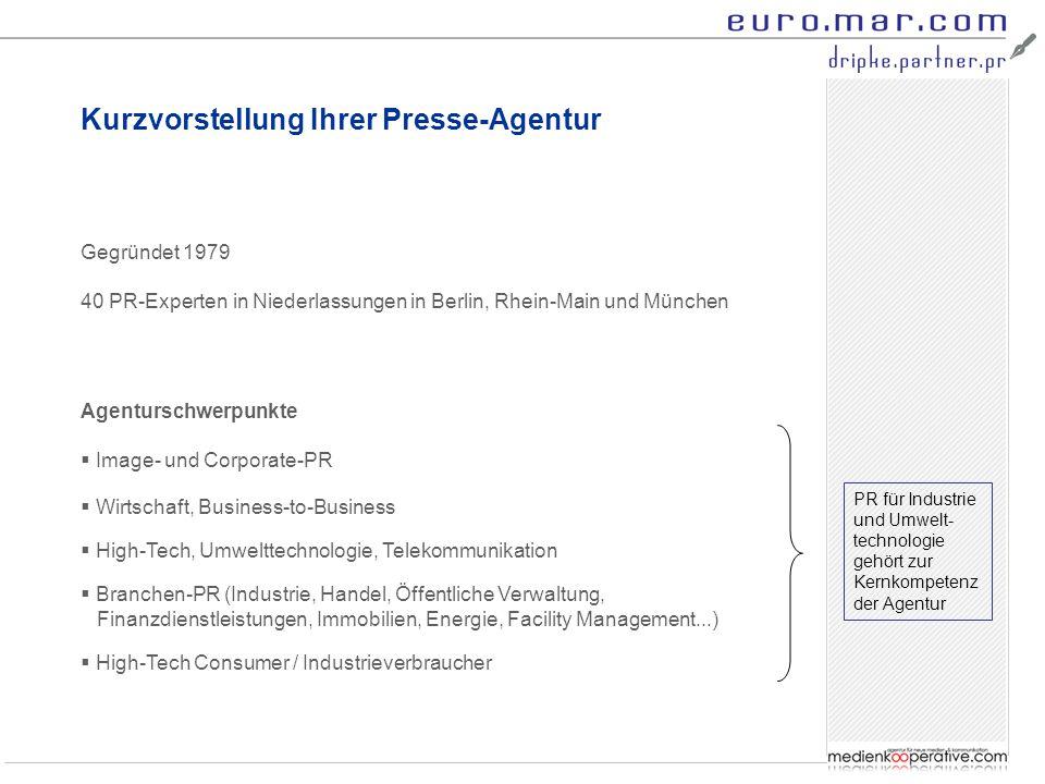 Kurzvorstellung Ihrer Presse-Agentur